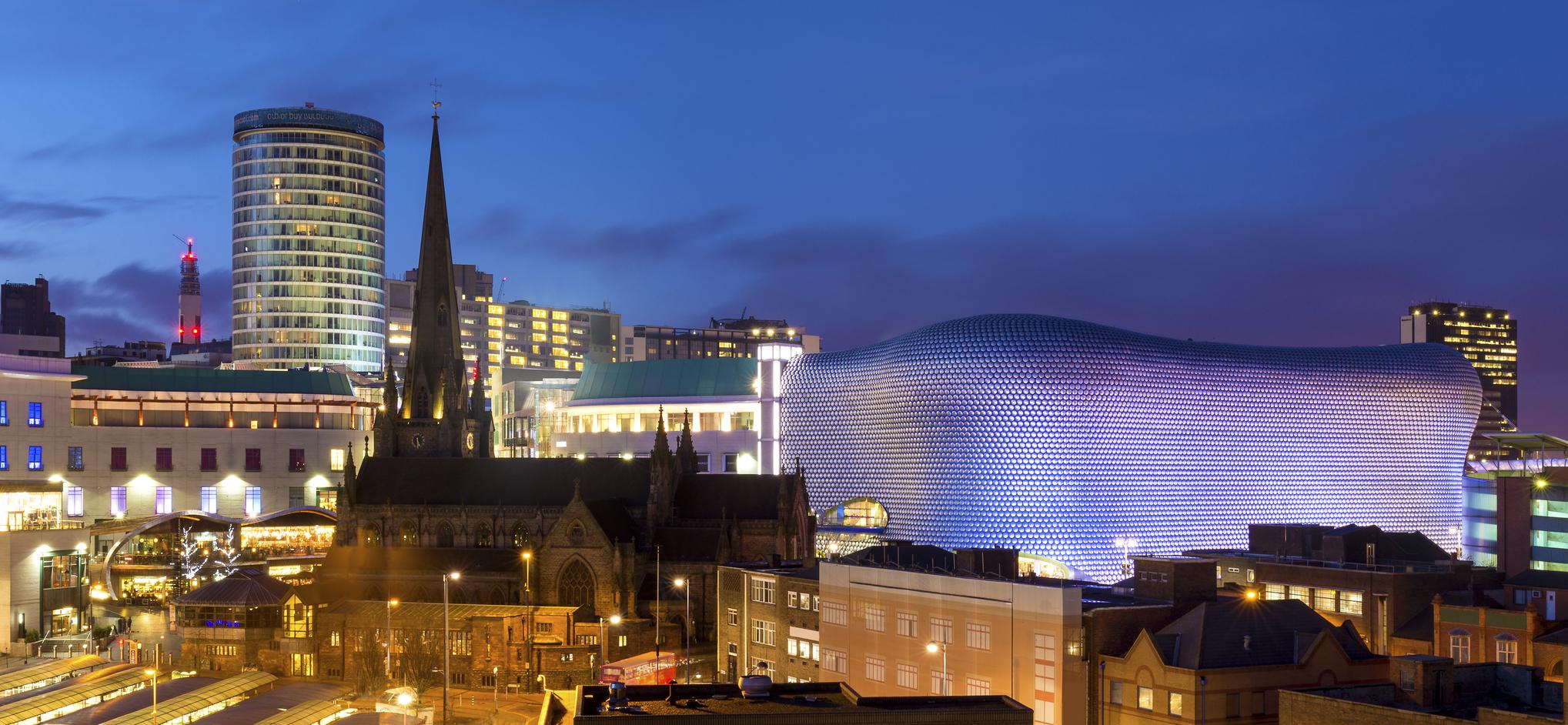 Birmingham Panoramic Cityscape, England, UK